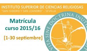 banner ISCR matricula 2015-16