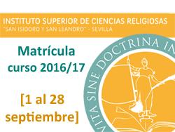 banner ISCR matricula 2016-17
