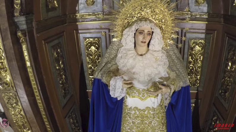 La parroquia Sta. María y Sta. Bárbara de Écija a vista de dron