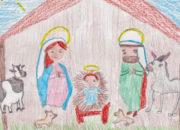 Nacimiento-tarjeta navideña-niños-Lora del Rio-Santa Cruz web