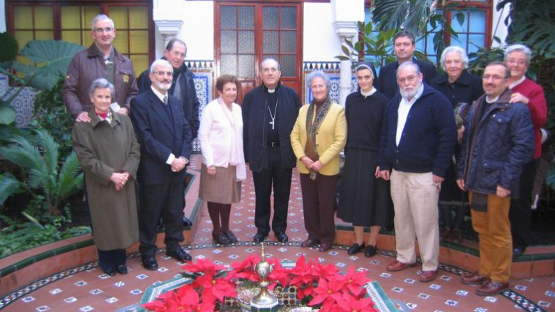Encuentro navideño del arzobispo con CONFER Sevilla