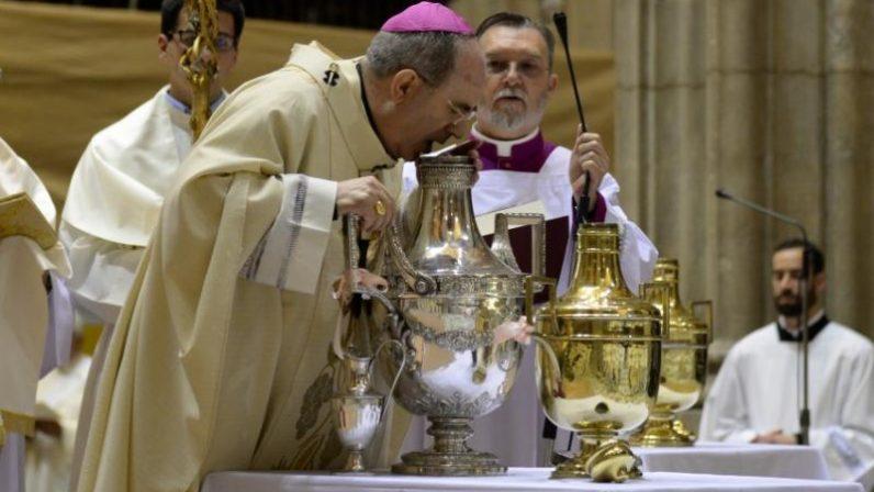 La Catedral de Sevilla acogerá la Misa Crismal, el Martes Santo a las once de la mañana