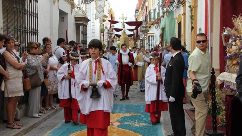 Marchena vive las vísperas del Jueves de Corpus