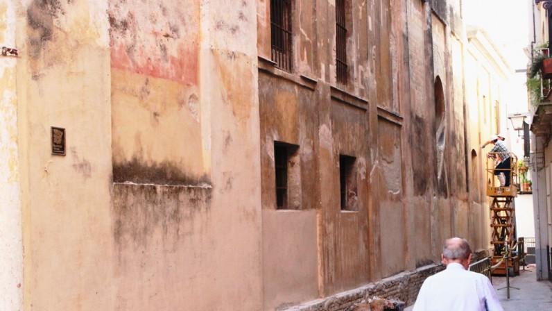 Obras de conservación de la fachada y torre de la Parroquia de San Bartolomé