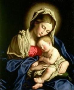 Pintura-al-óleo-Madonna-virgen-maría-y-el-niño-jesús-ningunos-enmarcados-.jpg_350x350