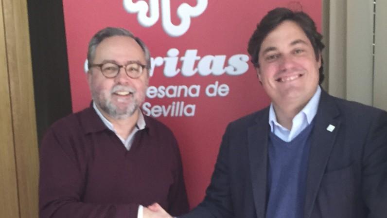 Cáritas Sevilla y ECOVALIA firman un acuerdo de colaboración