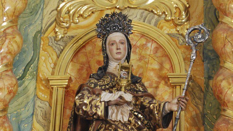 Alcalá de Guadaíra acompaña un año más a las clarisas en la festividad de su fundadora