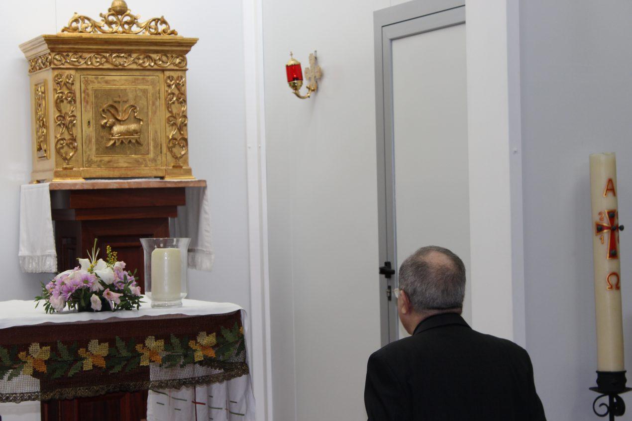 Acto de bendición de la primera piedra del complejo parroquial San Juan Pablo II
