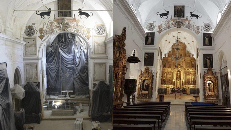 Restauraciones en templos de Sevilla, Osuna y Lora del Río
