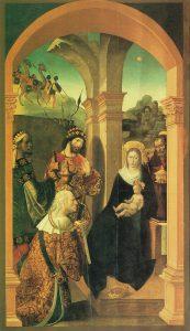Alejo-Fernandez-Adorazione-dei-Re-Magi-1507-1508-Cattedrale-di-Siviglia.-597x1024  La_Adoracion_de_los_Reyes_Magos_de_Alejo_Fern--ndez_Sacrist--a_de_los_C--lices_de_la_catedral_de_Sevilla-173x300