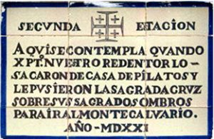 Segunda Estación_ ViaCrucis Cruz del Campo leyenda