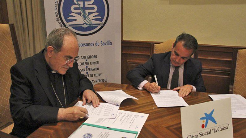 La Archidiócesis firma un convenio con la Obra Social 'La Caixa' para reformar el colegio diocesano Corpus Christi