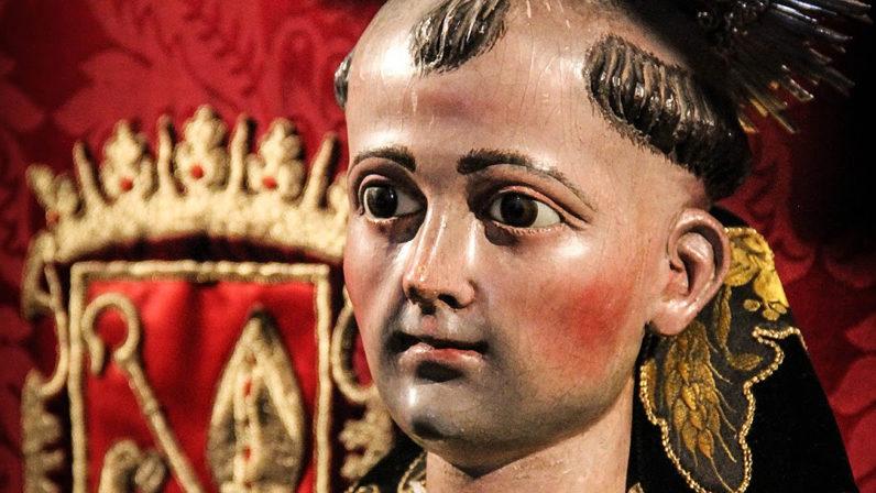 La imagen de San Benito vuelve al culto en la ermita de Castilblanco de los Arroyos