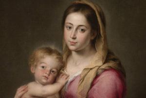 Virgen con el Niño- Detalle