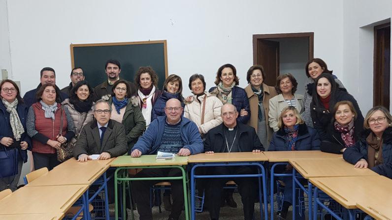 El Obispo auxiliar se reúne con el profesorado de Religión del arciprestazgo de Estepa