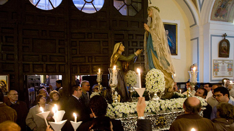Misa diocesana de enfermos y procesión claustral de Lourdes en el Santo Ángel