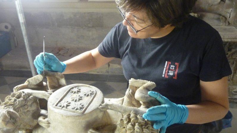 Los trabajos de conservación en la capilla de Santiago llegan a su fin