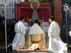 Procesión eucarística de la Parroquia de San Sebastián (Sevilla)