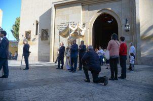Procesión sacramental en la Parroquia de San Román