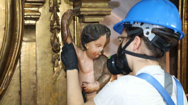 Restauración del retablo mayor de San Andrés