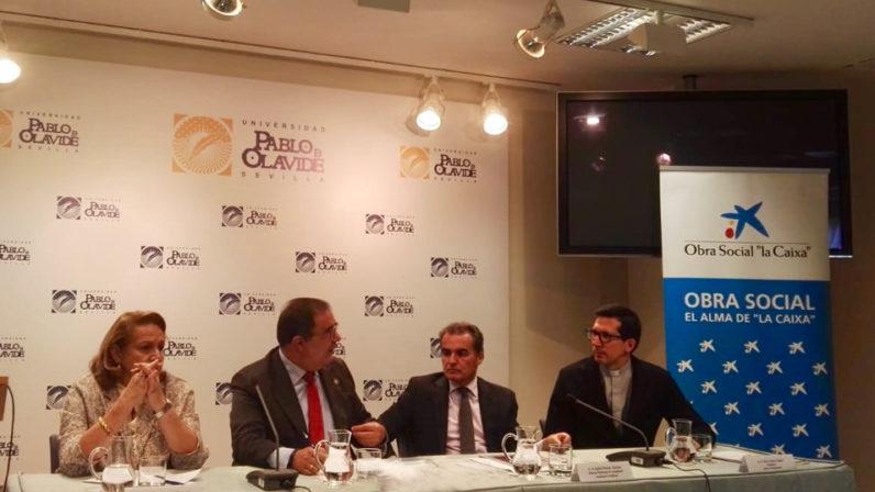 Presentación del programa de ayudas de Cáritas Universitaria en la UPO