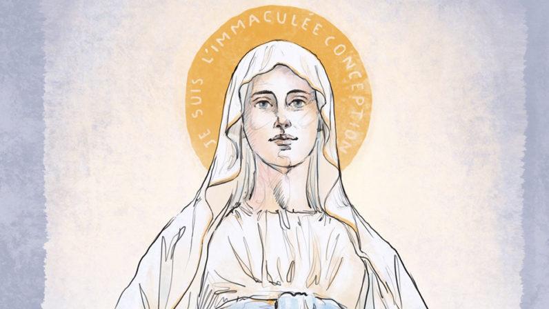 Los jóvenes celebran el día de su patrona: la Inmaculada Concepción de la Virgen