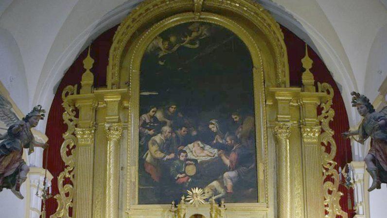 El Retablo mayor de Santa María la Blanca, de Los Palacios, busca mecenas para su restauración