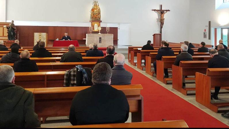 El clero diocesano celebra el primer retiro del año