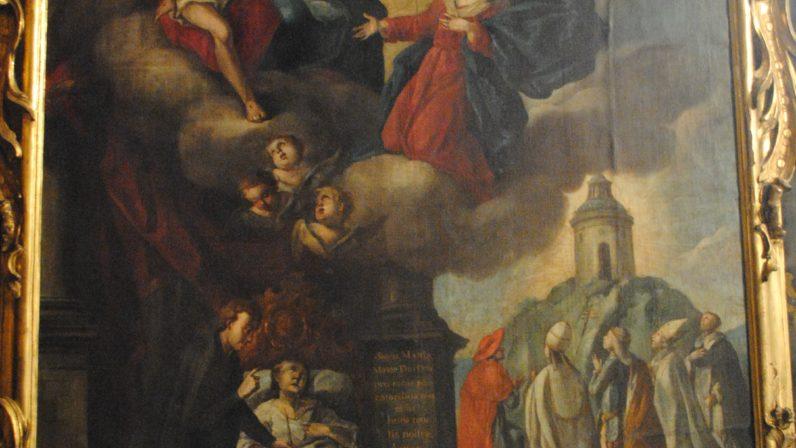 """""""La Virgen intercediendo por un enfermo"""", Iglesia de San Nicolás de Sevilla."""