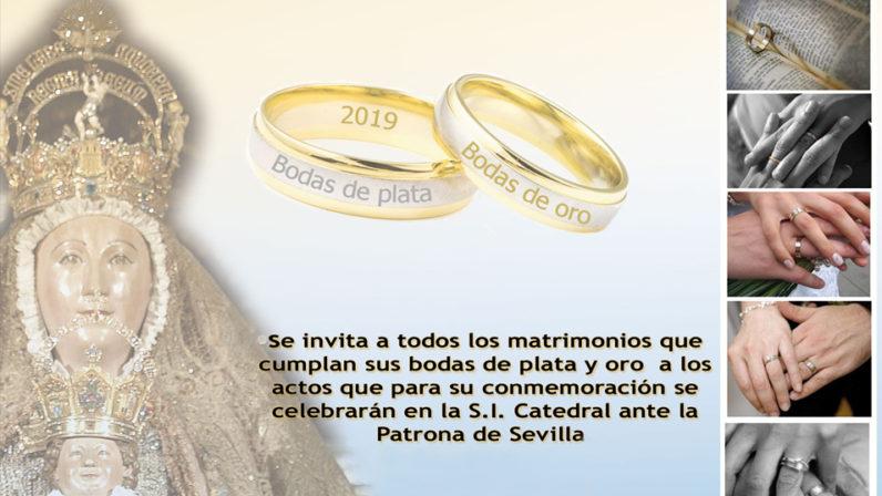 Bodas de Plata y Oro matrimoniales