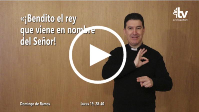 Domingo de Ramos 2019. Evangelio en LSE