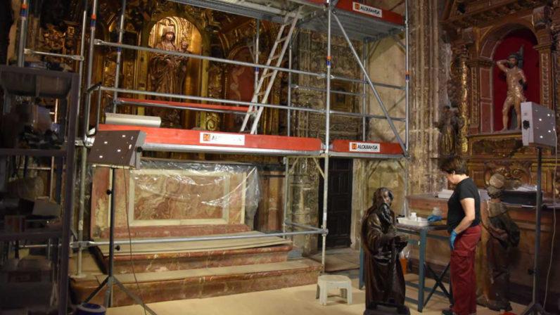 Comienzan las intervenciones en la capilla catedralicia de la Virgen del Pilar