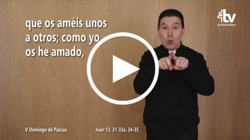 Evangelio del V Domingo de Pascua (ciclo C) en LSE