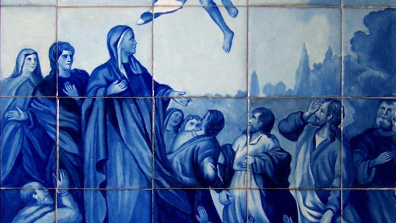 Dos escenas de la Ascensión en la Basílica del Cachorro
