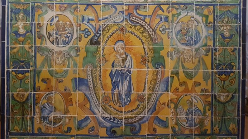 El frontal de altar cerámico de la Ermita de Cuatrovitas
