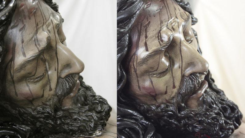Concluye la restauración del Cristo de la Misericordia, de San Juan de Aznalfarache