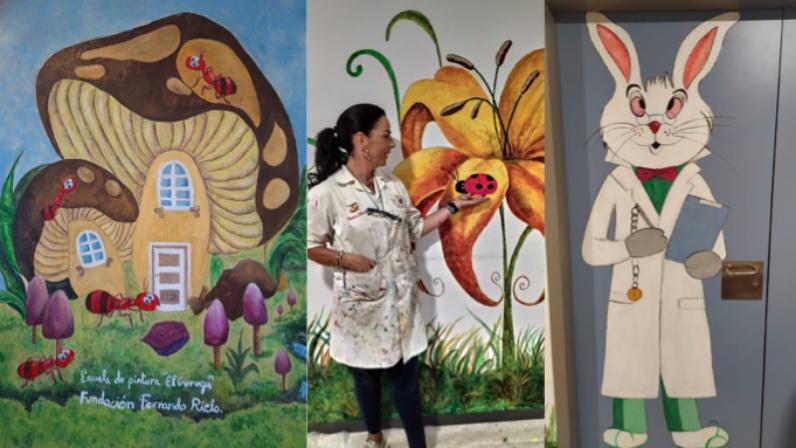 Arte y solidaridad en el Hospital de la Sierra Norte sevillana