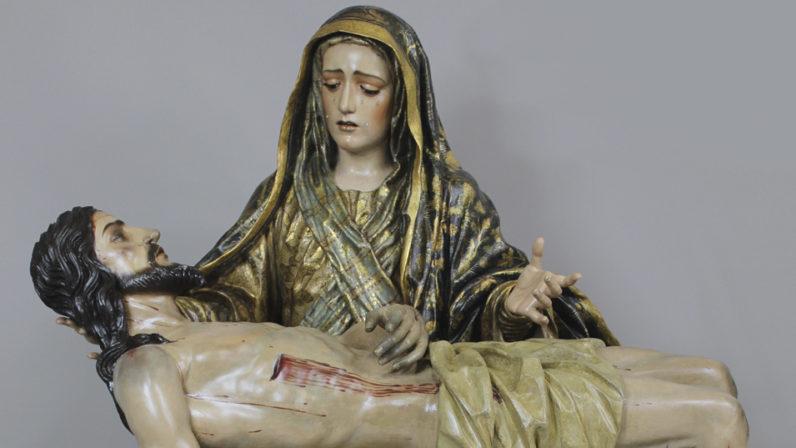 Concluye la restauración de la Virgen de las Angustias de Estepa