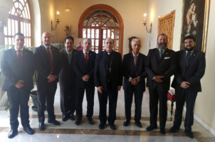 El Arzobispo recibe a la nueva junta de San Hermenegildo
