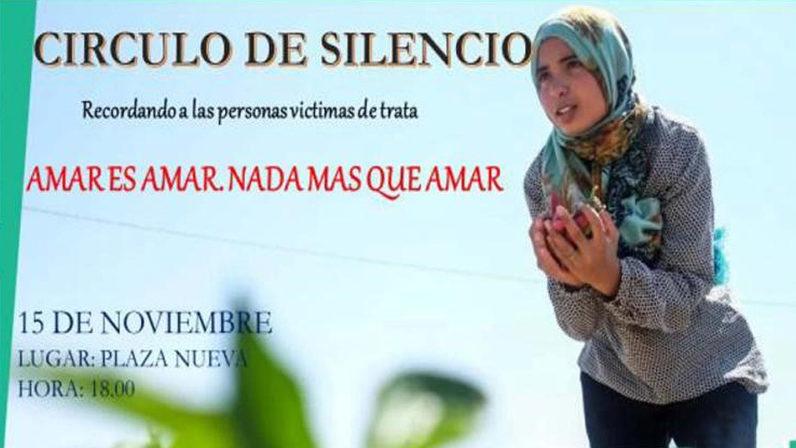 La Delegación de Migraciones convoca un Círculo de Silencio por las víctimas de trata