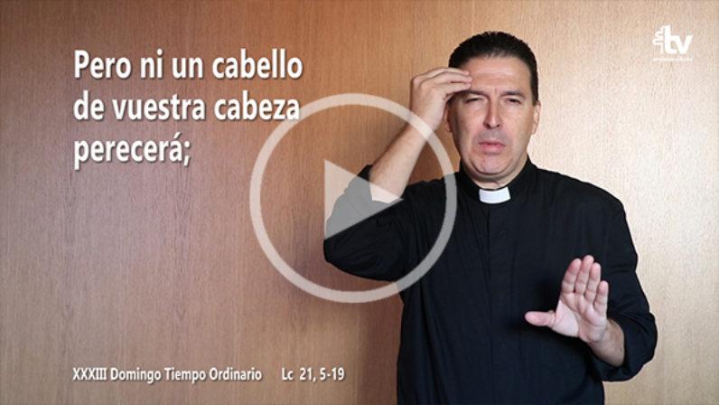 Evangelio del XXXIII Domingo de Tiempo Ordinario en Lengua de Signos Española (Ciclo C)