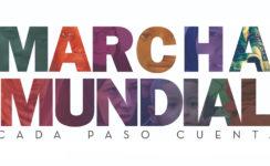 Marcha solidaria con migrantes de Cáritas Diocesana