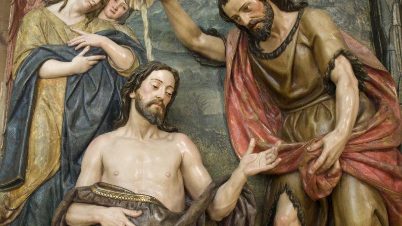 El Bautismo de Cristo, Monasterio de San Leandro, Sevilla