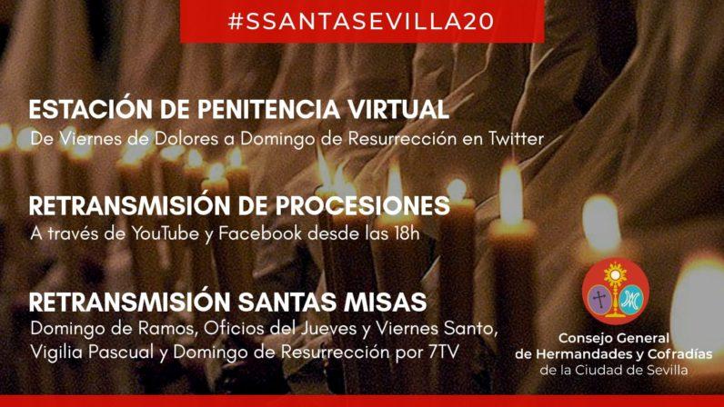 El Consejo de Hermandades promueve una estación de penitencia virtual y la retransmisión de misas y procesiones