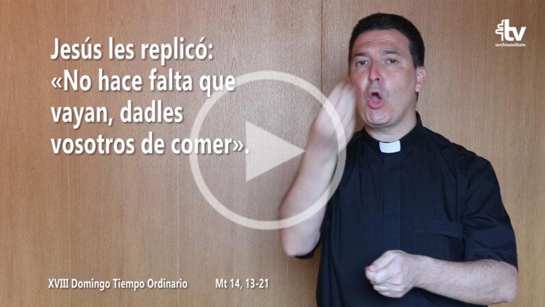 Evangelio del XVIII Domingo de Tiempo Ordinario (ciclo A) en LSE