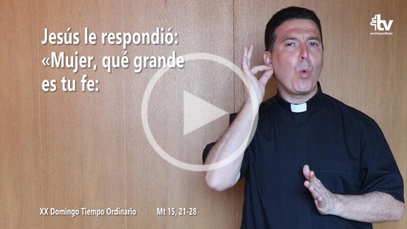 Evangelio del XX Domingo de Tiempo Ordinario (ciclo A) en LSE