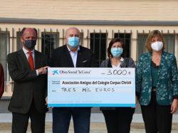 Donación para el colegio diocesano Corpus Christi