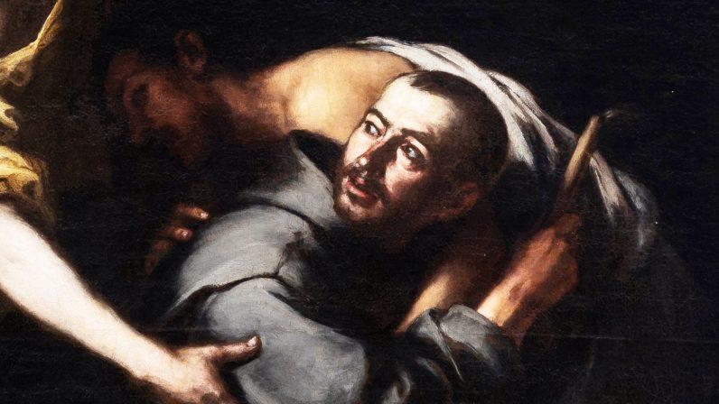 San Juan de Dios transportando un enfermo (Hospital de la Caridad de Sevilla)