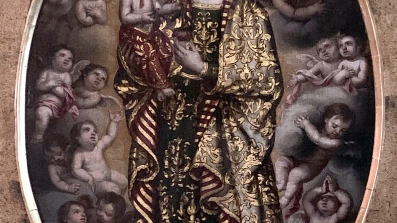Pintura del Simpecado antiguo de la Virgen del Coral (Parroquia de San Ildefonso)