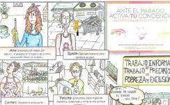 La Acción Conjunta Contra el Paro elabora un cómic para reflexionar sobre el trabajo precario